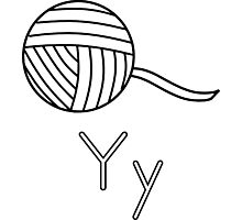 Y for Yarn Photographic Print