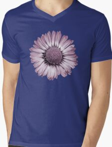 Retro Daisy in Pink Mens V-Neck T-Shirt