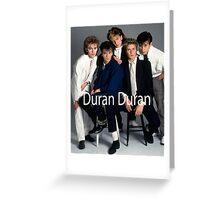 Vintage Duran Duran Band Greeting Card