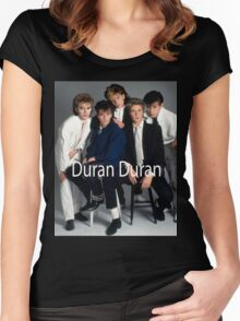 Vintage Duran Duran Band Women's Fitted Scoop T-Shirt