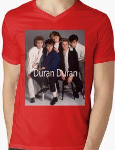 Vintage Duran Duran Band Mens V-Neck T-Shirt