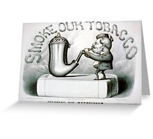Coloring his meerschaum - 1880 - Currier & Ives Greeting Card