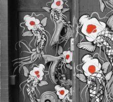 Street Koi- Black & White Sticker