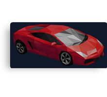 Low Poly Sports Car Canvas Print