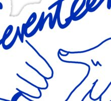 SEVENTEEN Concert Boys Wish Logo 2 Sticker