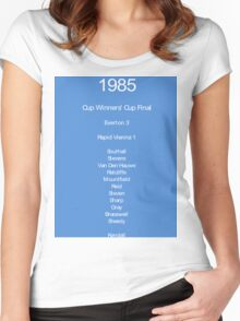 Everton 1985 Women's Fitted Scoop T-Shirt