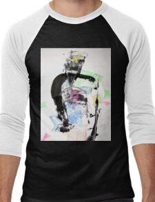 Theatre of ancient Greece - Original Wall Modern Abstract Art Painting  Men's Baseball ¾ T-Shirt