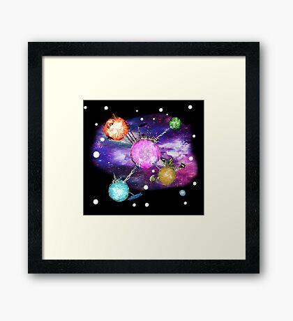 Galactic Premonition ~ Anachrotees' Design Framed Print