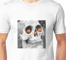 Skull with pumpkins Unisex T-Shirt