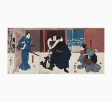 Igami No Gonta-Wife Kosen-And the Kokingo - Kuniyoshi Utagawa - 1848 - woodcut Kids Tee