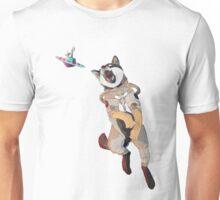 Shiba Inu from Space Catching a UFO! Unisex T-Shirt