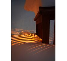 Warm Sunset on an ice-cold Day Photographic Print