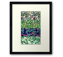 GREEN TROPICAL COLLAGE Framed Print