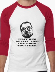That Rug Really Tied The Room Together: Big Lebowski Movie Quote Men's Baseball ¾ T-Shirt