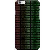 Binary Green and Red With Spaces iPhone Case/Skin