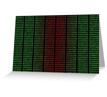 Binary Green and Red With Spaces Greeting Card
