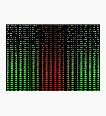 Binary Green and Red With Spaces Photographic Print