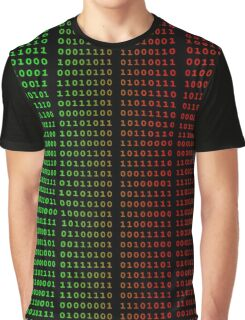 Binary Green and Red With Spaces Graphic T-Shirt
