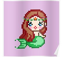 Pixel Mermaid Poster