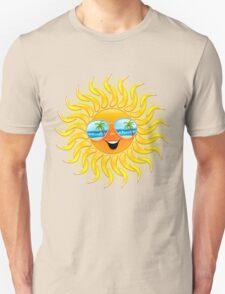 Summer Sun Cartoon with Sunglasses Unisex T-Shirt