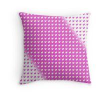 twitter logo pattern PINK & WHITE Throw Pillow