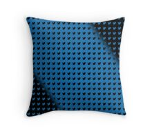 twitter logo pattern BLUE & BLACK Throw Pillow