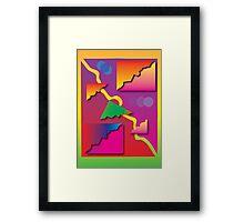 'Prisms' design by LUCILLE Framed Print
