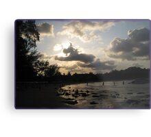 silver beach sunset Metal Print
