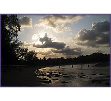 silver beach sunset Photographic Print
