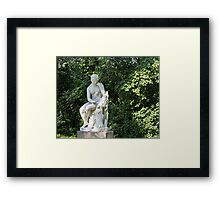 Antique  marble sculpture Herminia Framed Print
