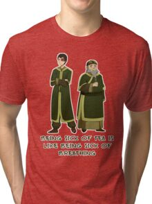 Zuko and Iroh Tea Shop with Qoute Tri-blend T-Shirt