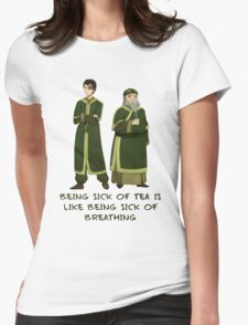 Zuko and Iroh Tea Shop with Qoute Womens Fitted T-Shirt