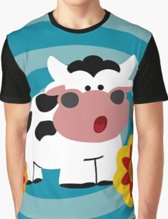 Psychedelic Cow Graphic T-Shirt