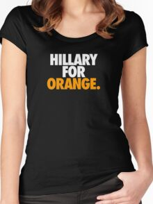 HILLARY FOR ORANGE. Women's Fitted Scoop T-Shirt