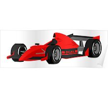 Red Race Car Poster