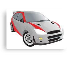 Red-Striped Cool Car Canvas Print