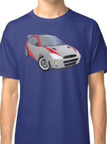 Red-Striped Cool Car Classic T-Shirt