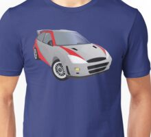 Red-Striped Cool Car Unisex T-Shirt