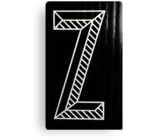 Vancouver Alphabet - Z Canvas Print