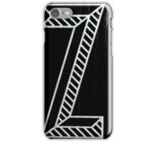 Vancouver Alphabet - Z iPhone Case/Skin