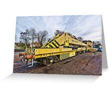 Railway crane Greeting Card