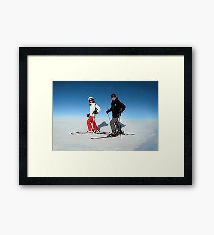 Caramelised Postcard Framed Print