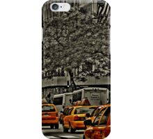 Rear View of Yellow Cabs on 5th Ave iPhone Case/Skin