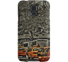 Rear View of Yellow Cabs on 5th Ave Samsung Galaxy Case/Skin