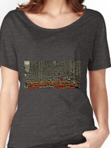 Yellow Cabs flow on 5th Ave Women's Relaxed Fit T-Shirt