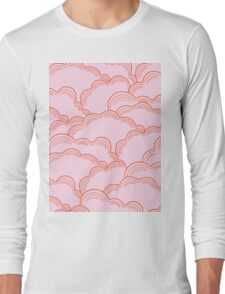 Pastel Pink Clouds Long Sleeve T-Shirt