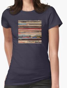 Vinyl Records Alt-Country   Womens Fitted T-Shirt