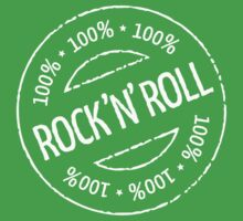 100% Rock 'n' Roll Stamp (White) Baby Tee