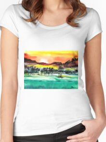 Good Evening 2 Women's Fitted Scoop T-Shirt