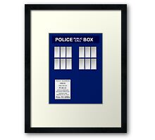 Police Box New Blue Framed Print